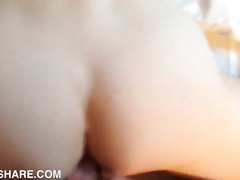 Close up of a penetrating and cumshot scene