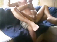 Twink ride dick on couch and got cussed out