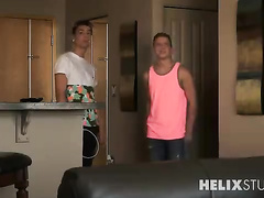 Twink invites the boyfriend to his place
