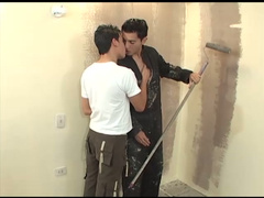 Young house painter hotly fucking with young twink