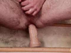 Horny gay boy enjoys the wild anal masturbation