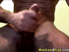 Handsome gay tastes his nasty cum after dick masturbation