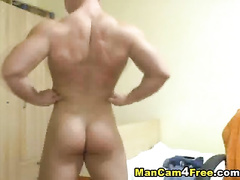 Sexy gay is undressing and posing to the web camera