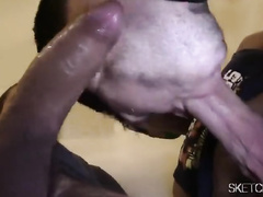 Short haircut twink got his asshole and mouth fucked by five gay boyfriends