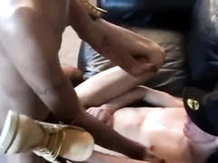 Scrawny black twink enjoys interracial gay sex with white twink