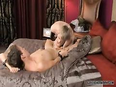 Cute twink hotly licks boyfriend's gay asshole before fucking it hard