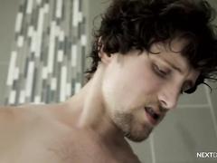 High School Bros Bareback in the Shower for NextDoorRaw!